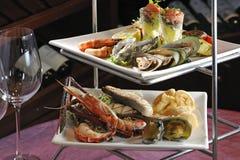 grill skaldjuret Royaltyfri Foto