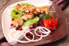 Grill skewer Stock Images