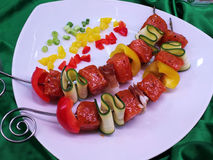 Grill skewer Royalty Free Stock Photography