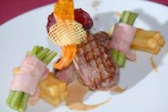 grill smażąca wieprzowina Fotografia Stock