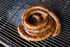 Grill smoked sausage Stock Photography