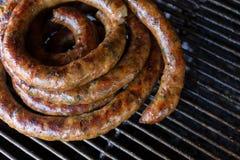 Grill smoked sausage Stock Photo