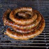 Grill smoked sausage Royalty Free Stock Photo