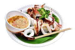 Grill squid Royalty Free Stock Images