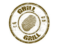 Grill stamp Royalty Free Stock Image