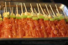 Grill-Straßen-Lebensmittel Bangkok Thailand Lizenzfreie Stockfotografie
