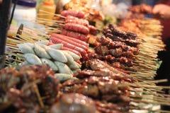 Grill-Straßen-Lebensmittel Bangkok Thailand Lizenzfreie Stockbilder