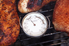 Grill surface thermometer Royalty Free Stock Photo