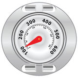 Grill Surface Thermometer. External thermometer for grilling. Vector drawing without a trace royalty free illustration