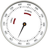 Grill Surface Thermometer. Thermometer used in cooking grill with the equipment. Vector illustration Royalty Free Stock Photography