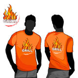 Grill t-shirt design. Royalty Free Stock Photography