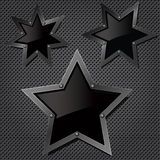 Grill texture with stars Stock Photos