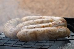 Grill Thai sausage Northeastern style Royalty Free Stock Photography