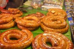 Grill-thailändische Nordwurst Stockfoto