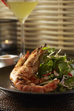 Grill Tiger prawns salad Stock Photos