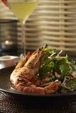 Grill Tiger prawns salad Stock Photos