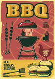Grill Time BBQ Poster royalty free illustration