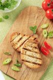 Grill toasted bread Stock Images