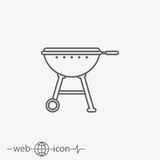 Grill vector icon vector illustration