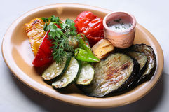 Grill vegetables Stock Images