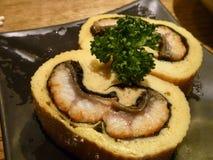 Grill węgorzowa jajeczna rolka Zdjęcie Stock