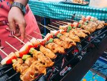Grill w Thailand rynku Zdjęcia Stock