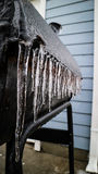 Grill was covered by ice Royalty Free Stock Photography