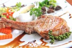 Grill wieprzowiny stek Obraz Stock