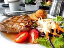 Grill wieprzowiny stek Zdjęcia Stock