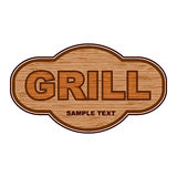Grill wooden background Stock Photography