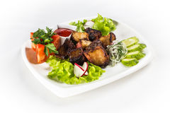 Grill z warzywami i zieleniami Zdjęcia Stock