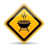 Grill zone vector sign Stock Photo