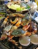 Grilla bufet w Tajlandzkiej restauracji zdjęcie stock