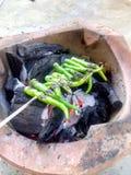 Grilla chili Royaltyfria Bilder
