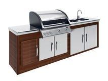 grilla drewniany stołowy Obrazy Royalty Free