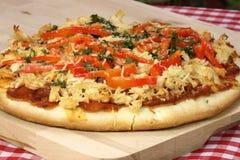 grilla kurczaka pizza Zdjęcia Stock