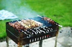 grilla meat Royaltyfria Bilder