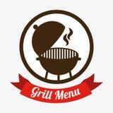 Grilla menu Zdjęcia Royalty Free