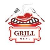 Grilla menu projekt Zdjęcia Stock