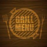 Grilla menu projekta szablon Fotografia Stock