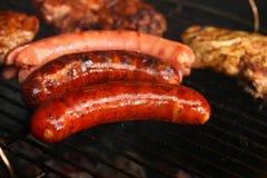 grilla mięsa kiełbasy obrazy royalty free