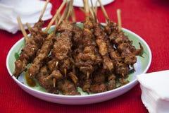 Grilla mięso - składnik sławna Wietnamska kluski polewka z BBQ mięsem Obrazy Royalty Free