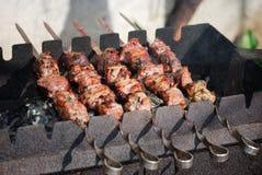grilla mięso Kaukaski Obrazy Royalty Free