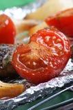 grilla mięsa pomidor Obrazy Stock