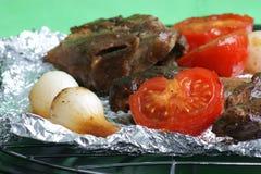 grilla mięsa pomidor Obraz Royalty Free