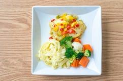 Grilla Rybi Polędwicowy stek Zdjęcia Stock
