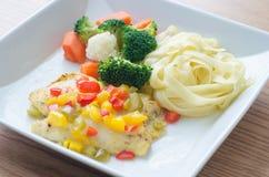 Grilla Rybi Polędwicowy stek Zdjęcie Royalty Free