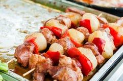 Grilla Shish kebab Zdjęcie Royalty Free