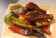 grilla talerz kurczaka Obraz Stock