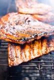 grilla wieprzowiny spareribs obraz stock